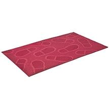 Коврик придверный резиновый 45*75 см, красный, Следы, VORTEX 20026