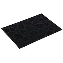 """Коврик придверный резиновый 40*60 см, черный, """"Следы"""" VORTEX 22462"""
