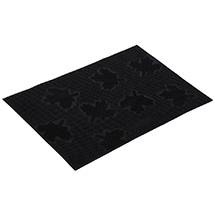 """Коврик придверный резиновый 40*60 см, черный, """"Клен"""" VORTEX 22463"""