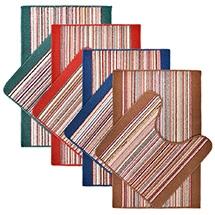 """Комплект ковриков """"Baden"""" для ванной 50*80см и туалета 50*50см, 4цвета, на ПВХ основе VORTEX 21081"""